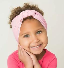 Haarband roze gevlochten