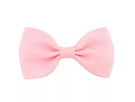 Haarclip roze strik