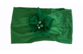 Haarband donker groen