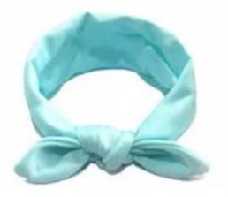 Wrap knoop haarband mint Groen