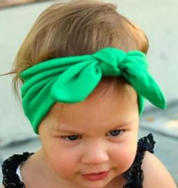 Haarband stof groen