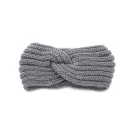 Haarband twist grijs