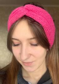 Haarband felroze met twist