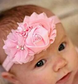 Luxe roze haarband Vera