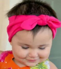 Wrap knoop haarband fel roze