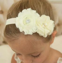 Haarband ivoor wit Rosa