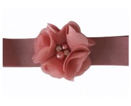 Haarband oudroze luxe bloem