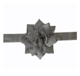 Haarband zilver grijs