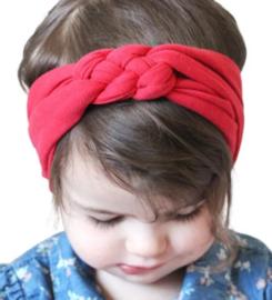 Haarband gevlochten rood