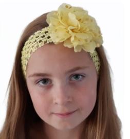 Haarband breed geel