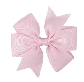 Haarclip roze met grote strik