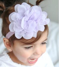Haarband lila met bloem