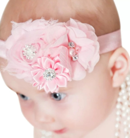 Luxe haarband roze Charlotte