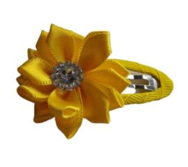 Haarclip geel