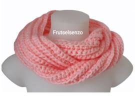 Colsjaal met haarband roze