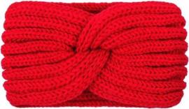 Haarband rood met twist