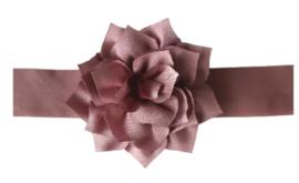 Haarband oudroze met grote bloem
