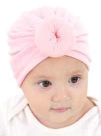 Mutsje donut turban roze