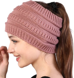 Winter haarband dusty pink extra breed
