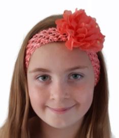 Haarband breed melon roze