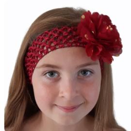 Haarband breed bordeau rood