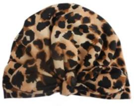 Baby muts turban  leopard