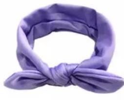 Wrap knoop haarband lila