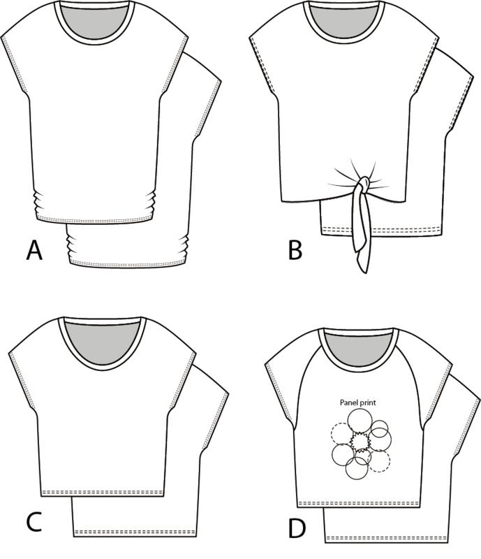 PDF Tricot top Francis A, B, C en D