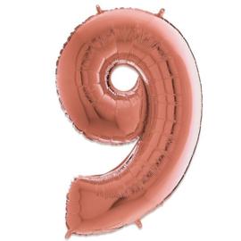 Cijfer 9 Rosé Goud - 66 cm