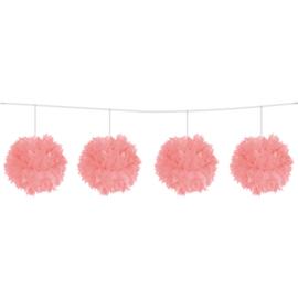 Roze Pompom Slinger 3 meter