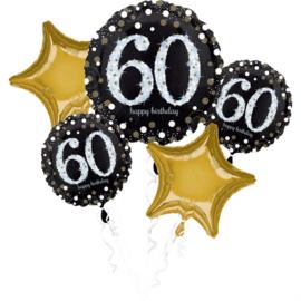 Folieballonnen boeket 60 Jaar Sparkling