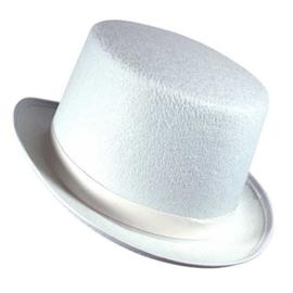 Hoge hoed vilt wit