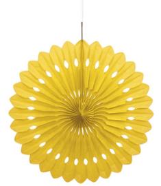 Honeycomb Waaier Geel - 40cm