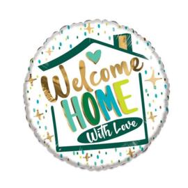 Folieballon ECO welcome home - 46 cm