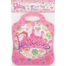 Uitdeelzakjes prinssessen 8 Stuks