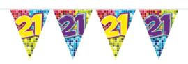 21 Jaar Vlaggenlijn Birthday Blocks - 6 meter