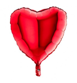 Folieballon hart rood - 46 cm