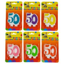 Nummerkaars '50' (7cm)