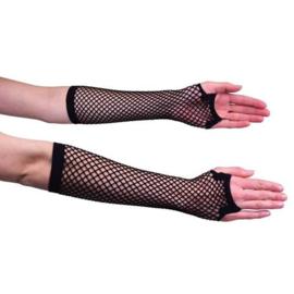 Nethandschoen lang zwart