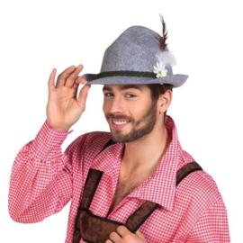 Tiroler hoed Ewald grijs vilt