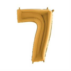 Cijfer 7 Goud 100 cm