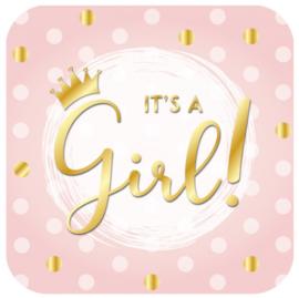 Huldeschild It's a girl ! 50 x 50 cm