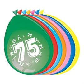 Ballonnen 75 jaar (Ø30cm, 8st)