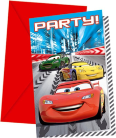 Cars Racers 6 uitnodigingen 6 stuks