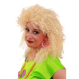 Pruik Nicky blond krul