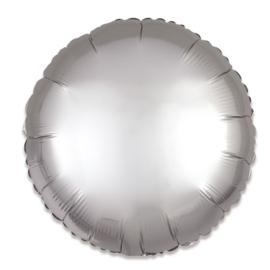 Folieballon rond satin platina (43cm)