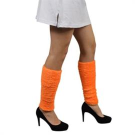 Beenwarmers softy fluor oranje