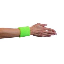 Polsband neon groen 2 stuks