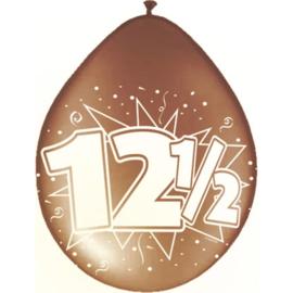 Ballonnen 12,5 Jaar Koperen jubileum - 8 stuks