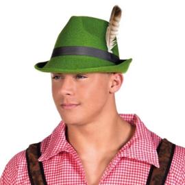 Tiroler hoed Falco groen vilt